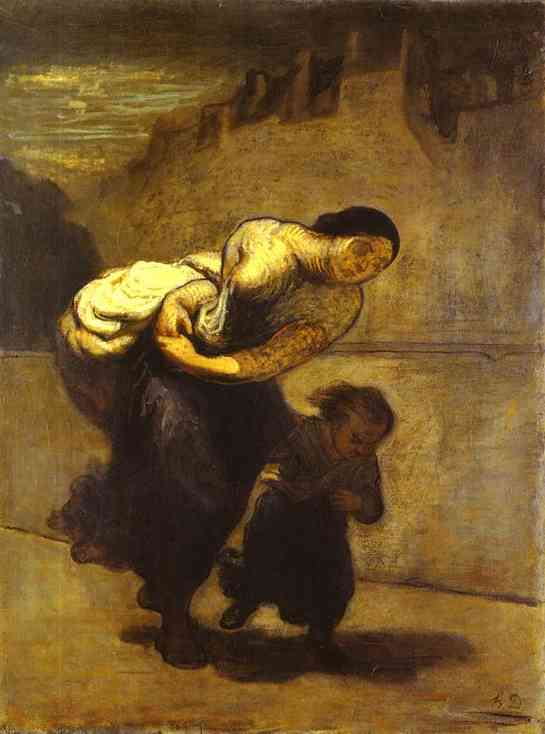 Daumier,  The Burden