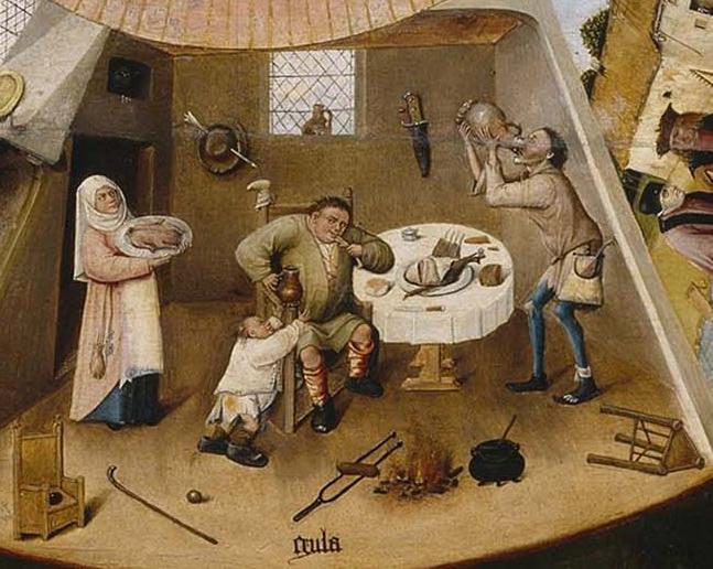 H. Bosch,  Gluttony
